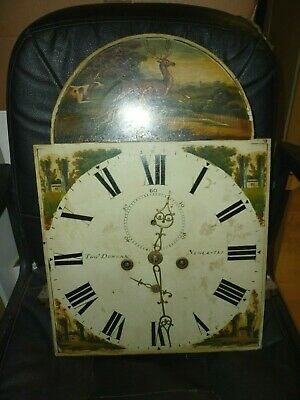 Good Antique 8 Day Longcase Clock Movement Tho Duncan Newcastl 19ins By 13.25ins