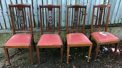 Decorative Set Of Four Good Looking Antique Victorian Mahogany Dining Chairs