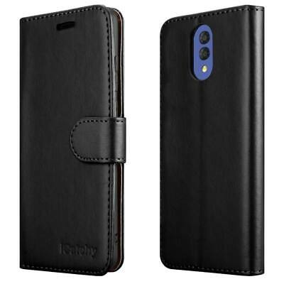 For Alcatel 3L Case Leather Folio Wallet Flip Book Stand View Phone Cover Pouch