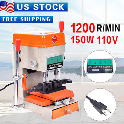 110V`Key Duplicating Machine Key Reproducer Reproducing Cutter Engrave Key Guide
