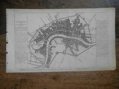 The City And Environs Of London, As Fortified .. 1642 & 1643  Harrison  c1775