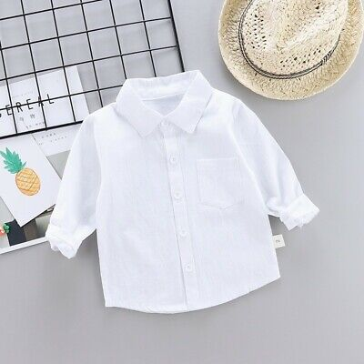 White Baby Boy Girl Clothes T-shirt Child Toddler Short Sleeve Cotton Tops