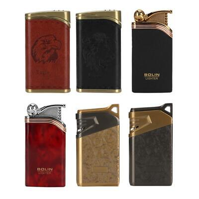 Windproof Cigarette Lighter Refillable Flame Gas Butane Cigar Lighter Craft Gift
