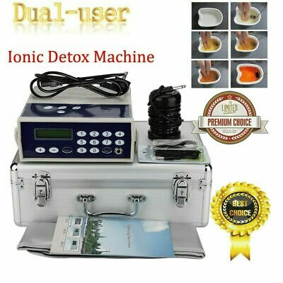 Dual User Detox Machine Cell Ionic Foot Bath SPA Cleanse Machine Fir Belt Box