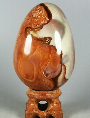 232g NATURAL POLISHED POLYCHROME JASPER EGG From Madagascar