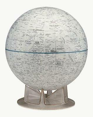 """Moon Desk Globe Lunar Geography Craters Seas Moutain NASA Approved Astronomy 12"""""""