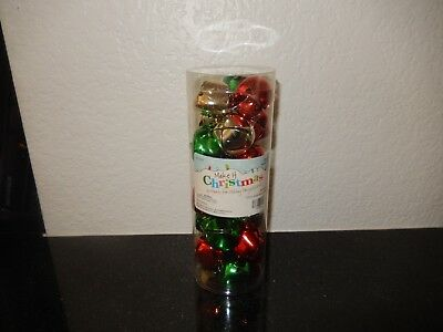 (Nip) Multi Color 28 Pieces 32 Mm Jingle Bells In Tube By Make It Christmas!
