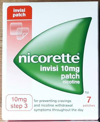 Nicorette Invisi Patch 10MG Step 3 x 7 Patches New Boxed use by 7-2020