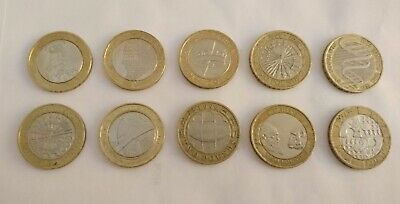 Collection of 10 Collectable Two Pound Coins £2 Rare Bulk Lot Set