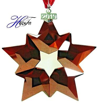 2019 Holiday Red Star Annual Edition Ornament Genuine Swarovski Crystal 5476021
