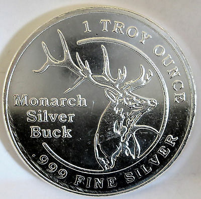 Buck Monarch Precious Metals .999 Fine Silver  1 Troy Oz Vintage
