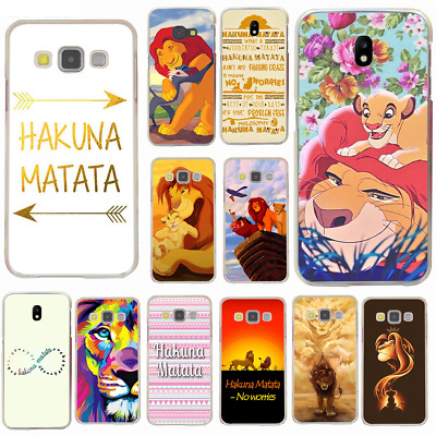 Hakuna Matata Quote Lion King Hard Plastic Phone Cover Case for Samsung Galaxy