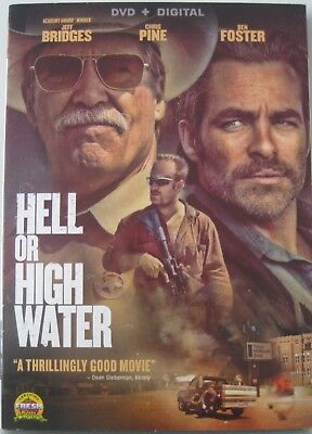Hell Or High Water - Dvd + Digital - Jeff Bridges Chris Pine Brand New Sealed!!