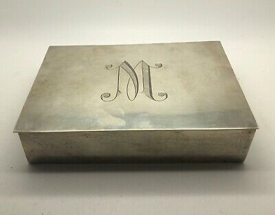 Hand Made Sterling Silver Card/Cigarette Box With Wood Lining - Lot 4015