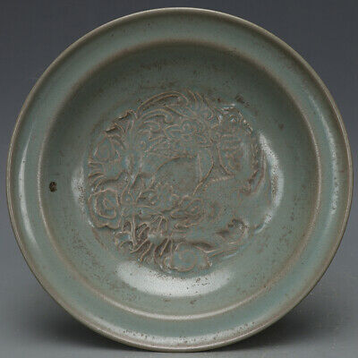 A Fine Collection of Chinese 11thC Song Ru Ware Porcelain Dragon Phoenix Plates