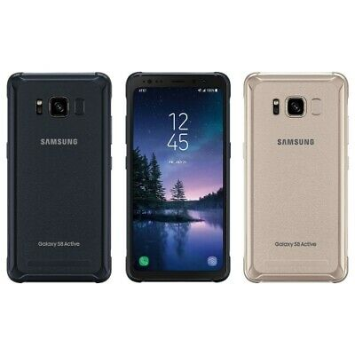 Samsung Galaxy S8 Active G892U 64GB Gold Gray AT&T GSM Unlocked High Image Burn