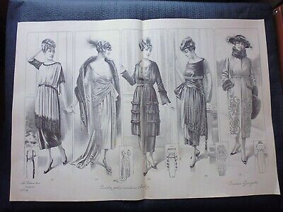 Gravure in folio circa 1910:MODE ANCIENNE:La femme chic créations LIBERTY