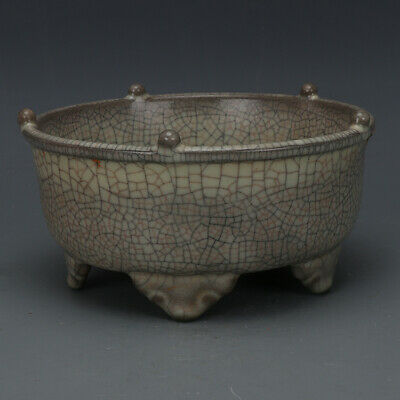 A Fine Collection of Chinese 11thC Song Ge Ware Porcelain Brush Washers