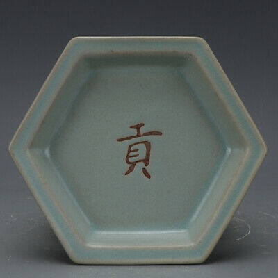 A Fine Collection of Chinese 11thC Song Ru Ware Porcelain Hexagonal Plates