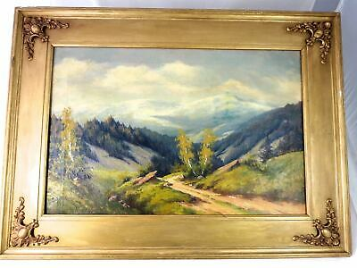 CANADIAN IMPRESSIONISM  Landscape Oil Painting ROCKY MOUNTAINS Signed 1936
