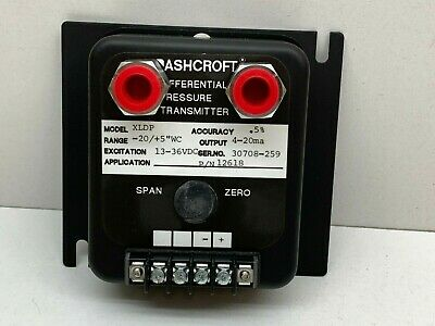 "Ashcroft XLDP Differential Pressure Transmitter -20/+5""WC, XLDP-050-C-0-MB3..."