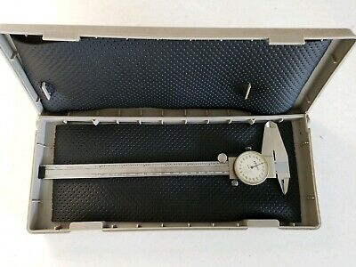 Vintage 8 Inch Mitutoyo Dial Caliper Japan Precision With Case And Paperwork