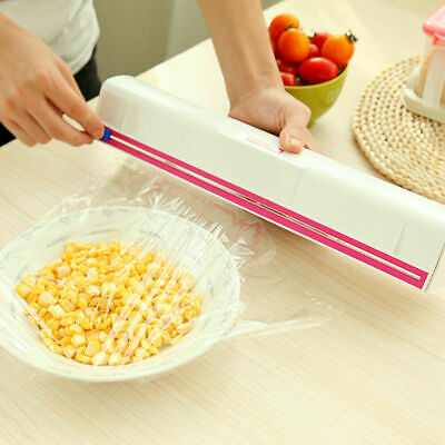 Portable Home Plastic Kitchen Foil And Cling Film Wrap Dispenser Cutter K2U5A