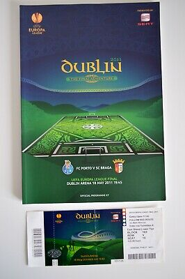 2011 UEFA Europa League Final Official Matchday Programme and Ticket Stub