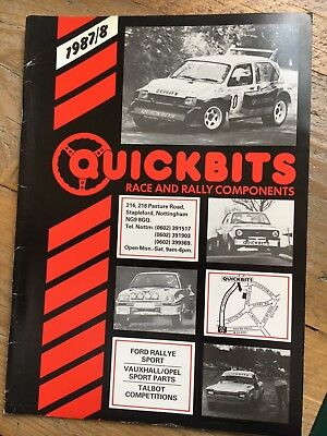 Quickbits Catalogue | Ford Rallye Sport | Opel | Talbot | Vauxhall | Competition