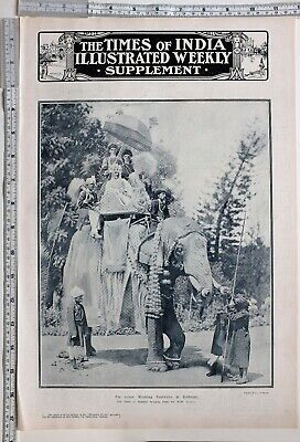 1912 India Print Wedding Festivities At Kolhapur Chief Of Akalkote With Bride