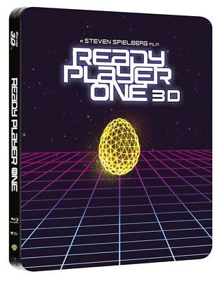 Ready Player One Steelbook Includes 3D+2D Blu Ray NEW & UK SELLER