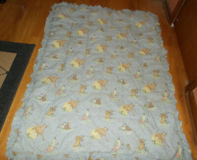 Laura Ashley Mother & Child Nursery Rhyme Hey Diddle Diddle Crib Quilt