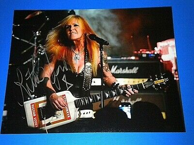 "LITA FORD ""runaways ozzy osbourne"" SIGNED 11X14 PHOTO coa"