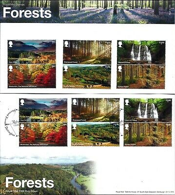 Gb 2019 Mint & Fdc Forests Presentation Pack 574 Mint Stamps Fdc Vfu