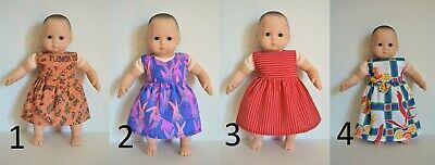 """Handmade Doll Clothes Dress Assorted Colors fit 15"""" AG Bitty Baby Dolls Maplelea"""