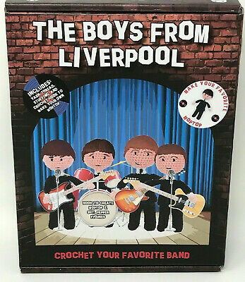 Crochet Set The Boys from Liverpool Make Your Own Moptop Beatles New