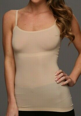 New SPANX Trust Your Thinstincts Tank Scoop Neck Cami Camisole Nude Large #10031