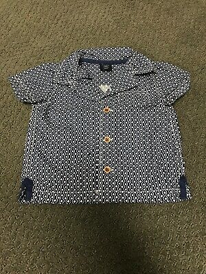 Baby Boy 3-6 Months Baby Gap Multicolored Festive Short Sleeve Button Up Shirt