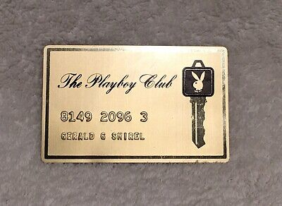 Vintage 1960s 1970s THE PLAYBOY CLUB METAL Cash Credit CARD BUNNY LOGO Key