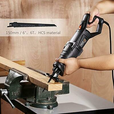 TACKLIFE Reciprocating Saw, 850W, 2800SPM, Rotary Handle(90° Left Right)