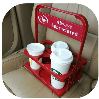Foldable Beverage Carrier with Tip Sign 4 Food Delivery Drivers like UE Drivers