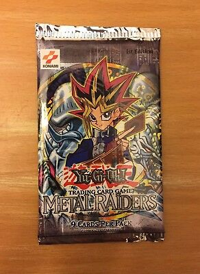 1st Edition Metal Raiders Booster Pack 2002 U.S. Version English Factory Sealed