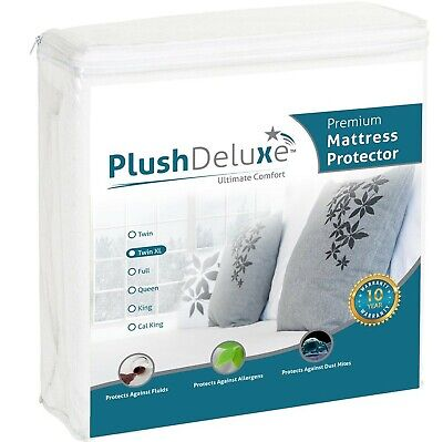 PlushDeluxe Mini Crib Size Premium 100% Waterproof Mattress Protector Hypoall...
