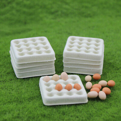 Dollhouse toy model miniature food playing mini empty egg tray BDAU