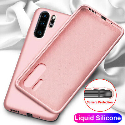 Ultra Thin Rubber Liquid Silicone Case Cover for Huawei Mate 20 Pro P20 P30 Lite