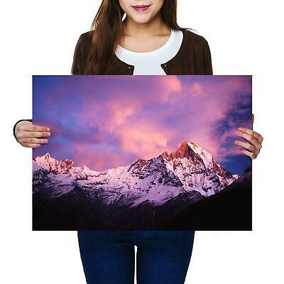 A2 | Mountain Machapuchare Himalaya - Size A2 Poster Print Photo Art Gift #8900