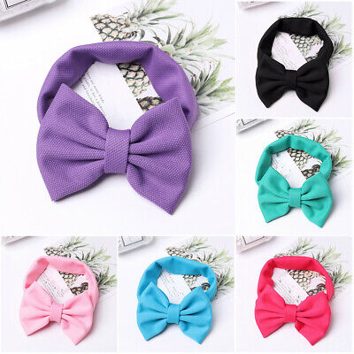 Girls Hair Bow Headband Chic Solid Spring Hairband Hair Ties Headwear For Kids