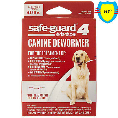 8in1 Safe-Guard Canine Dewormer for Dogs, 3-Day Treatment,effective,prevention!!