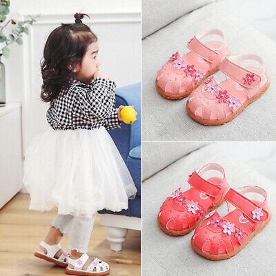 Infant Toddler Kids Baby Girls Flower Single Princess Party Shoes Soft Sandals