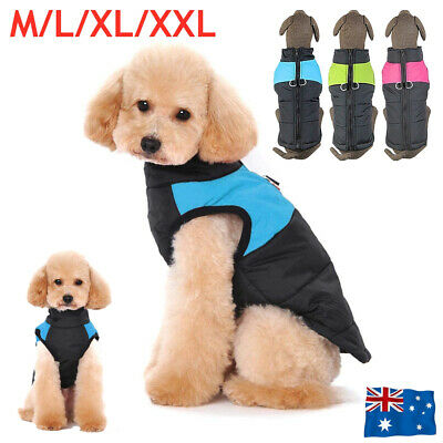 Dog Padded Jacket Waterproof Winter Coat Warm Pet Windbreaker Vest Puppy Clothes